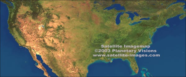 USA Maps - Satellite images and vector maps Satelyte Usa Map on