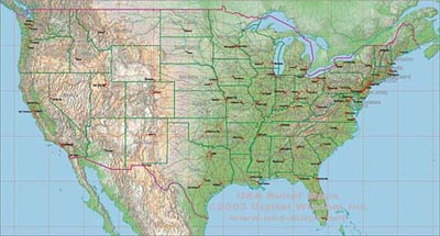 USA Maps The Map Resource For Maps Of The United States - Relief map us