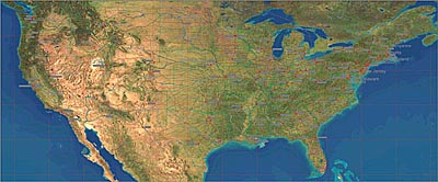 USA Maps The Map Resource For Maps Of The United States - Satellite map of usa