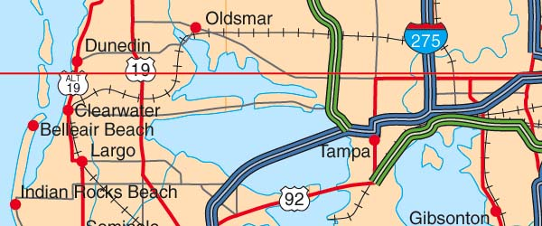 Detail Map Of Florida.Us State Illustrator Eps Vector Map Catalog Detail Map Of The