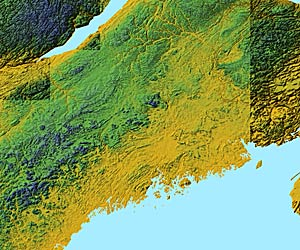 USA Relief Map Collection Catalog  State Of Maine